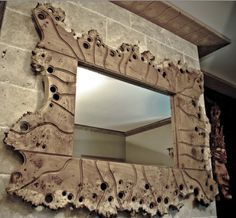 GDUKStyle ARTISAN: Lewis Design: Swiss Burr Oak Jigsaw Mirror.