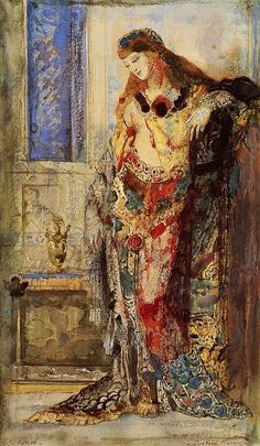 """Gustave Moreau c 1890 """"The Toilet."""" I love the rich color and texture."""