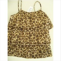 THE CHILDRENS PLACE Silky Camisole Lined Leopard Print sz 10-12 NWT Retail$16.95 on eBid United States