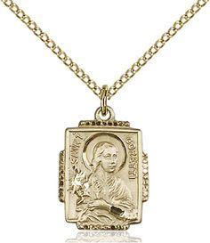 St. Maria Goretti Pendant (Gold Filled) by Bliss   Catholic Shopping .com