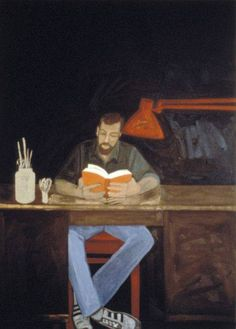 """""""Reader"""" painting by Dona Nelson, 1981"""