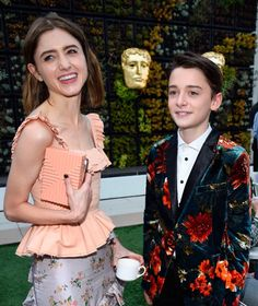 Natalia Dyer and Noah Schnapp