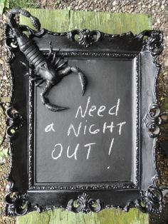 OOAK Chalkboard Black Scorpion Scorpion Wall art by MariasIdeasArt Who Shares My Birthday, Upcycled Vintage, Repurposed, Cupcake Art, Framed Chalkboard, Vintage Frames, Archetypes, Scorpion, Dark Side