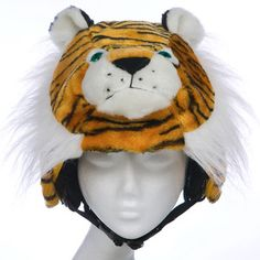 Fab.com | Plush Animal Helmet Covers - I should probably get this cover for my helmet....