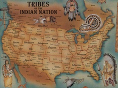 I HAVE A  puzzle of this map somewhere, Native American tribe map