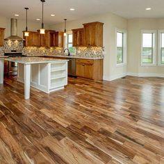-Acacia Flooring, loveee these floors! Acacia Flooring, loveee these floors! Living Room Flooring, Living Room Paint, Kitchen Flooring, Kitchen Wood, Kitchen Decor, Hardwood Floors In Kitchen, Hardwood Floor Colors, Farmhouse Flooring, Kitchen Drawers