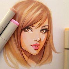 Original Marker Drawing by ArtworkbyGabrielle on Etsy, $32.00