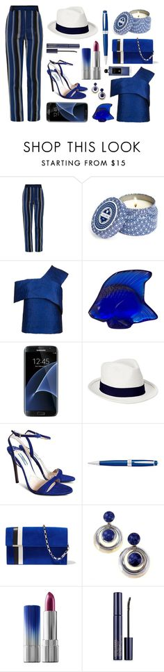 """""""The Deep Blue Sea"""" by romaosorno ❤ liked on Polyvore featuring Proenza Schouler, Capri Blue, Topshop, Lalique, Samsung, Old Navy, Prada, Cross, Tomasini and Estée Lauder"""