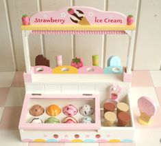 pretend wooden ice cream parlour