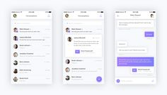 Messaging app concept full