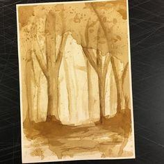 Today's leftover #coffeepainting Maybe I'll try and do one of these a day? Probably not.