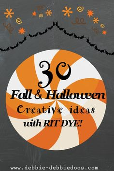 #Fall and #Halloween creative ideas with #Ritdye. Thinking outside the box.