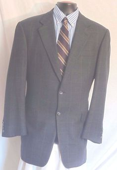 48P NWT Hickey Freeman Mens Sport Coat Blue Wool Jacket New Two