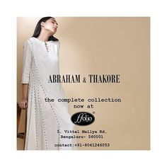 Abraham & Thakore the complete collection is now available at Ffolio, Bangaluru. #abrahamandthakore #ffoliostore #fashion #womens #sarees… Sarees, Duster Coat, Collection, Women, Fashion, Moda, Fashion Styles, Fashion Illustrations, Woman