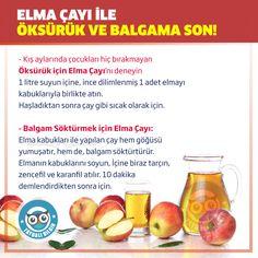 Kış aylarında çocukları hiç bırakmayan Öksürük için Elma Çayı'nı deneyin #faydalıbilgi