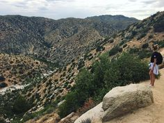 Hiking down to hot springs 💦 (at San Bernardino National Forest)