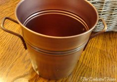 Close-up of pretty pail.  http://thededicatedhouse.blogspot.com/2013/05/my-little-shopping-spree.html