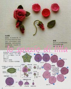 lo spazio di lilla: Fiori e motivi crochet con schemi / Crochet flowers and motifs, free patterns