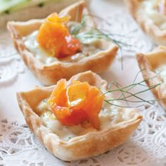 Salmon and Fennel Tartlets recipe