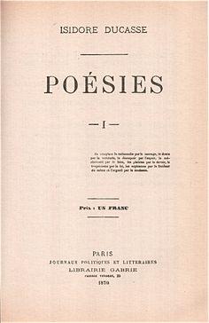 Isidore Ducasse - Poésies