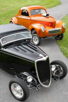1934 Ford Coupe and a 1941 Willys Coupe