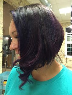 Disconnected bob with purple and violet #bellaamicitc #hairbycassierizzi