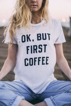 Brandy ♥ Melville | Violet But First Coffee Top - Graphics