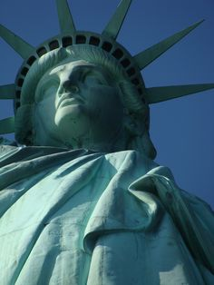 Statue of Liberty's Face while on tour with Alyssa Uller, who took this picture- my daughter:)