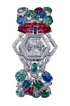 Cartier Jeweled Watch Bracelet