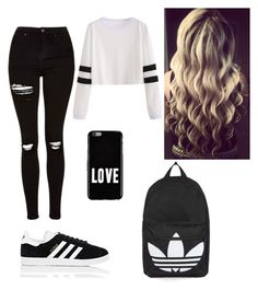 """""""Unnamed #10"""" by nyla2323 on Polyvore featuring Topshop, adidas and Givenchy"""