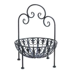 Fleur-de-lis Standing Bowl from The Spinster's Shoppe