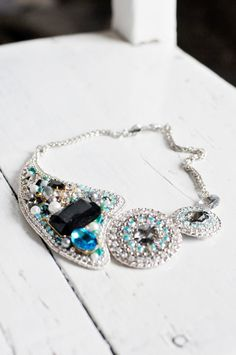 One of a kind statement necklace n1 by Lottaart on Etsy, $95.00