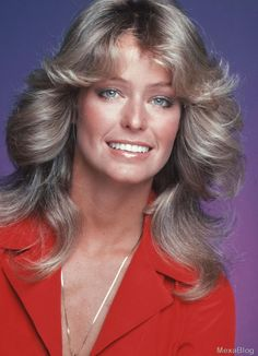Farrah Fawcett's feathered hairstyle in Charlie's Angels is the most iconic and most emulated of its time. Description from taaz.com. I searched for this on bing.com/images