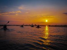 Denise Gordon-sunset over Mobile Bay in Mobile Alabama