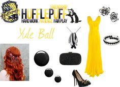 """Hufflepuff - Yule Ball"" by lumos394 ❤ liked on Polyvore"