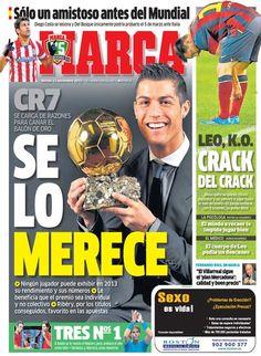 'CR7 se lo merece' | La portada del 12 de noviembre de 2013