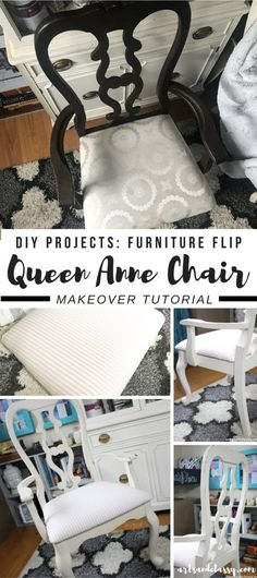 DIY Projects - Queen Anne Chair Gets a Shabby Chic Makeover | Arts and Classy