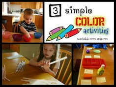 Teachable {MOM}ents: 3 Simple Color Recognition Activities