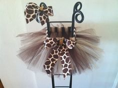 Hey, I found this really awesome Etsy listing at https://www.etsy.com/listing/130525425/giraffe-tutu-comes-with-matching-hair