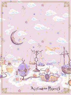 Alice and The Pirates Disney Collage, Cute Art Styles, Kawaii Wallpaper, Pretty Wallpapers, Kawaii Art, Pastel Art, Fantastic Art, Cute Illustration, Aesthetic Art