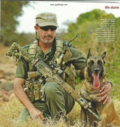 "paradynamic: "" justremington: "" African Rangers Against Poaching. "" Holy shit that last FAL "" Military Working Dogs, Military Dogs, Police Dogs, War Dogs, Military Pictures, Large Dog Breeds, Belgian Malinois, Dog Runs, All Nature"