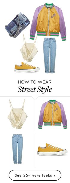 """""""Street style"""" by youngwildthang on Polyvore featuring Gucci, Topshop, Converse and Chanel"""