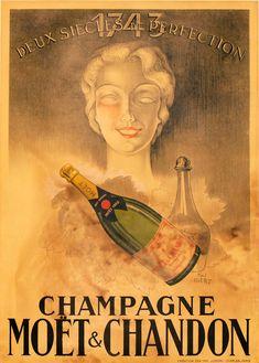 1943 ChampagneMoet & Chandon vintage advert poster