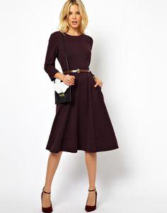 ASOS | ASOS Midi Dress With Belt at ASOS