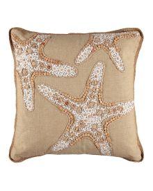 "Starfish Bead Decorative Pillow - 18"", Main View"