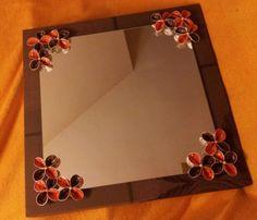 Espejo de decorado con cápsulas de Nespresso