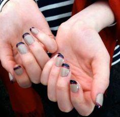 double reverse manicure