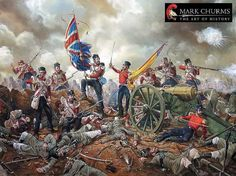 The British 95th Derbyshire Infantry Regiment attacks the Russian Redoubt at the Battle of Alma