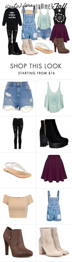 """Year of Hipster"" by azura123 ❤ liked on Polyvore featuring River Island, RVCA, Dorothy Perkins, SONOMA Goods for Life, Alice + Olivia, Boohoo, Nine West and Gianvito Rossi"