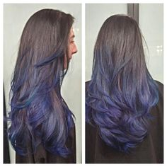 Blue Ombre by Cynthia. Balayage, Costa Mesa Salon, highlights. Balayage, Costa Mesa Salon, highlights, ombre, orange county
